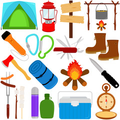 Vacation - Outdoor Travel : Trekking/Camping icons