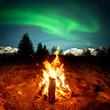Fototapete Polarlicht - Abenteuer - Nacht