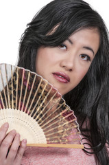 Woman with Oriental Fan