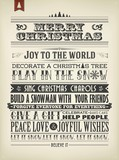 Merry Christmas And Happy New Year Typographic Background poster