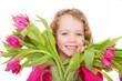 glückliches kind mit tuplen