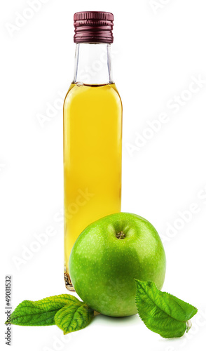 Glass bottle of apple vinegar