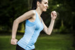 Active woman jogging