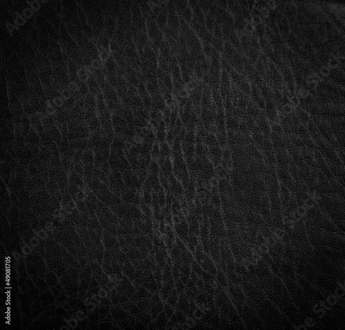 Luxury Genuine Black Leather Texture or Background
