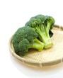 Broccoli on a white