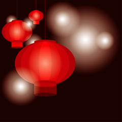 Chinese lantern template vector/illustration