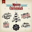 Merry Christmas And Happy New Year Typographic Background