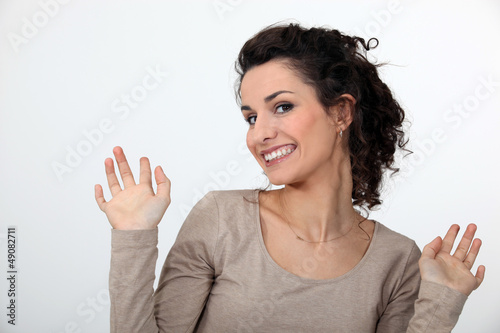 Delighted woman