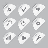 Editor tools icon set
