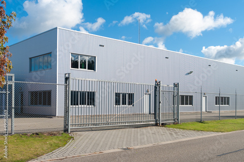 canvas print picture industrial building