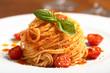 Leinwanddruck Bild - pasta italiana spaghetti al pomodoro