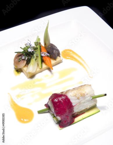 Filetto di merluzzo con verdure sott'olio