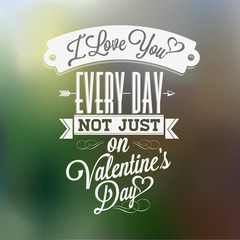 Happy Valentine's Day Typographical Background
