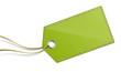 Grüner Anhänger Schild Etikett