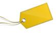 Schild Anhänger gelb