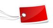 rotes Schild mit Schnur