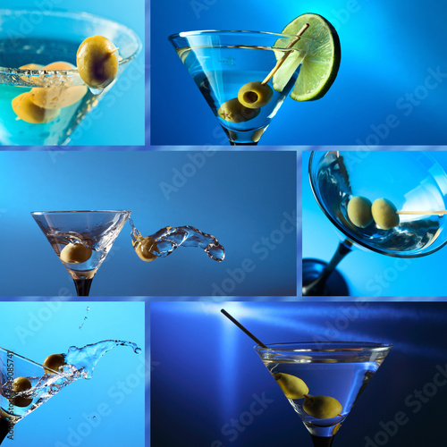martini, saved clipping path