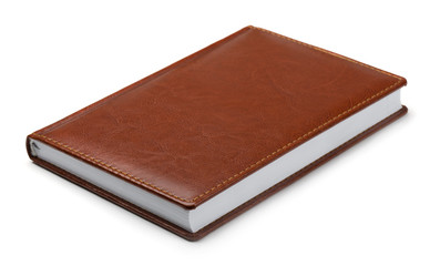 New brown leather notebook