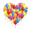 Herz aus bunten Luftballons
