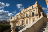 europe, italy, sicily, noto, barique building