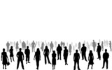 Fototapety crowd of people - vector silhouettes