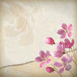 Realistic floral vector spring grunge background