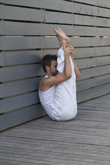 yoga workout outdoors