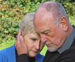 Senior couple in grief