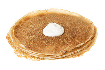 crepes with sour cream