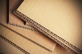 carton ondulé gros plan, matériaux d'emballage - 49089142
