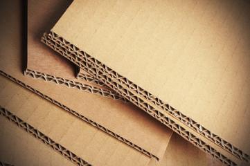 carton ondulé gros plan, matériaux d'emballage
