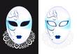 Masque Vénitien - bleu - Carnaval