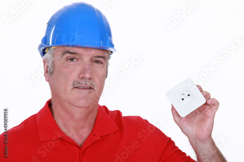 Builder with a continental power socket