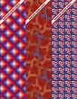 Set of three seamless pattern