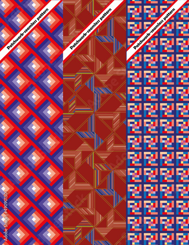 Set of three seamless pattern