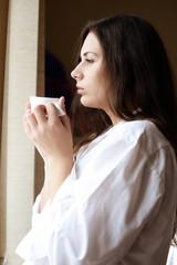morning coffee near the window