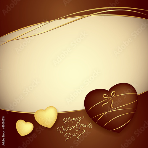 Vector chocolate background. Valentine' motive.