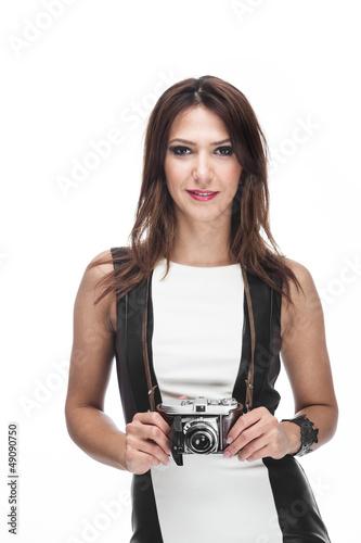 Hübsche Fotografin