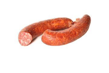 Pieces of sausage