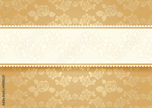 Gold roses with background