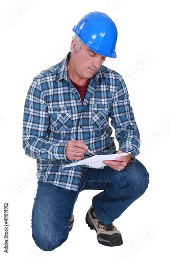 Foreman on white background