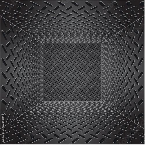 Staande foto Leder metal template background