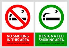 Zakaz palenia i etykiety dla palących - Zestaw 1