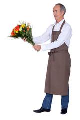 A mature florist.