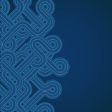 Abstracy blue background with twisted lines