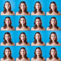 Beautiful Woman Portrait, Multiple Images