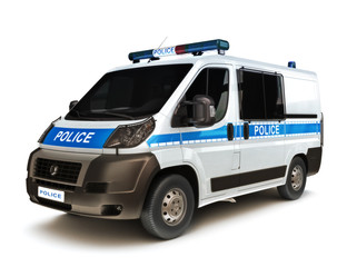 European Police on a white background