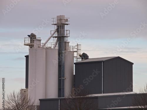 Grey factory building
