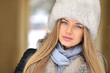 Beautiful woman portrait closeup