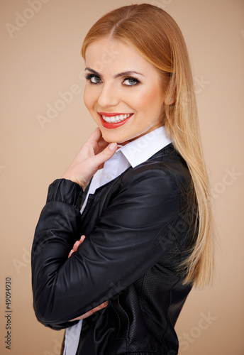 Portrait of a smiling blonde